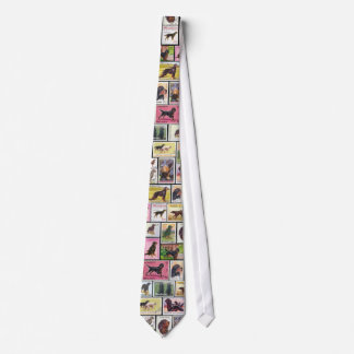 Gordon Setter Stamps of the World Necktie