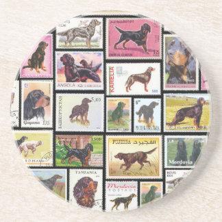Gordon Setter Stamps of the World Sandstone Coaste Sandstone Coaster