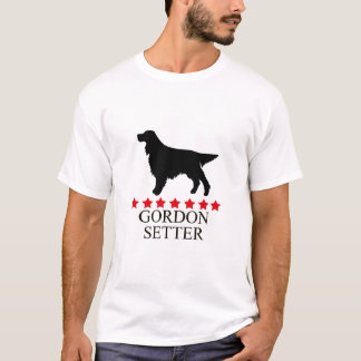 Gordon Setter T-shirt with Red Stars