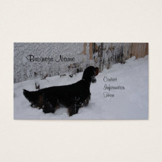 Gordon Setter Winter Business Cards