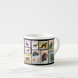 Gordon Setter World Stamps Espresso Mug