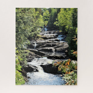 Gorge At Moxie Falls In West Forks Maine Jigsaw Puzzle
