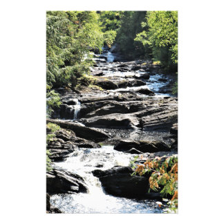 Gorge at Moxie Falls in West Forks Maine Stationery