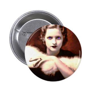Gorgeous 1920s Woman with Intense Blue Eyes 6 Cm Round Badge