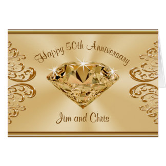 Gorgeous 50th Anniversary Cards with YOUR TEXT