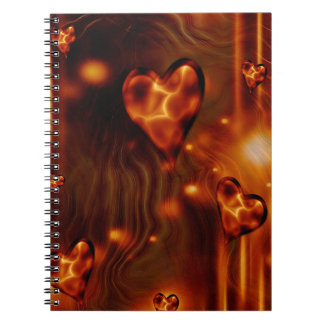 Gorgeous Abstract Hearts Photo Notebook