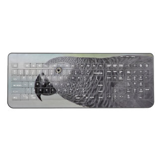 Gorgeous African Grey Parrot Wireless Keyboard