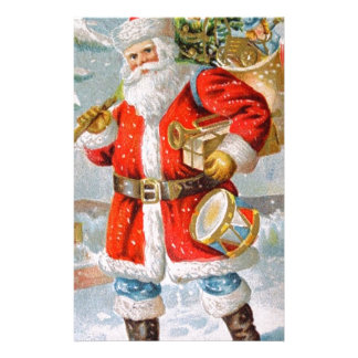 Gorgeous American Patriotic Christmas Santa Personalised Stationery