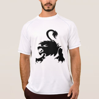 Gorgeous and black lion design T-Shirt
