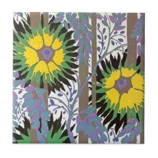 Gorgeous Art Deco Abstract Floral Nature Ceramic Tiles