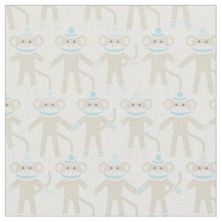 Gorgeous Baby Sock Monkey Pattern Fabric