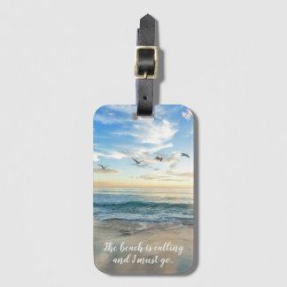 Gorgeous Beach Scene Luggage Tag