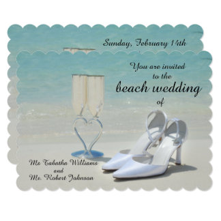 Gorgeous Beach Wedding Invitation