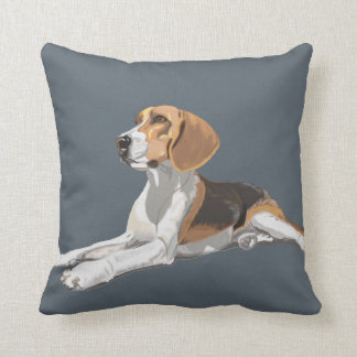 Gorgeous Beagle Sitting Down Cushion