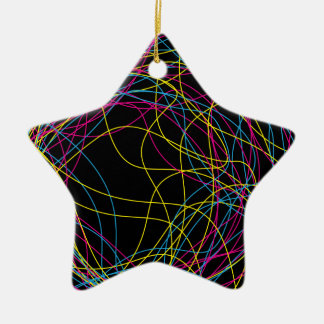 Gorgeous black ceramic star ceramic ornament