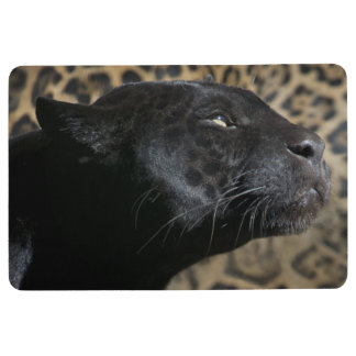 Gorgeous black panther leopard floor mat