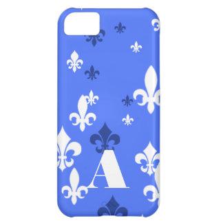 Gorgeous Blue and White Fleur de Lis Pattern iPhone 5C Case