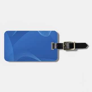 Gorgeous Blue Fractal Luggage Tag