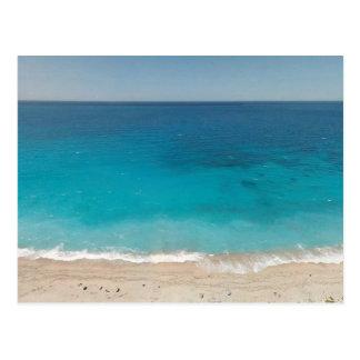 Gorgeous blue ocean water postcard