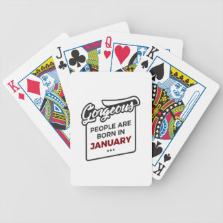 Gorgeous Born In January Babies Birthday Bicycle Playing Cards