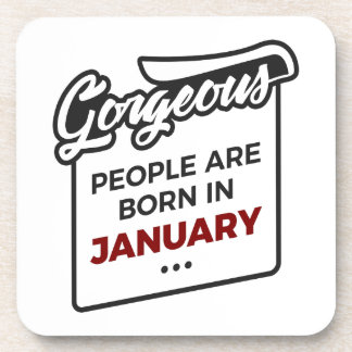 Gorgeous Born In January Babies Birthday Coaster