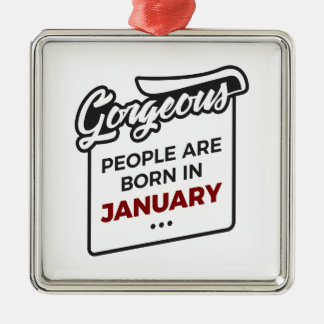 Gorgeous Born In January Babies Birthday Metal Ornament