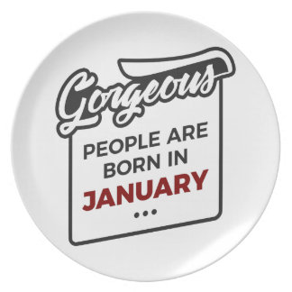 Gorgeous Born In January Babies Birthday Plate
