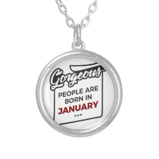 Gorgeous Born In January Babies Birthday Silver Plated Necklace