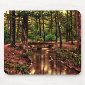 Gorgeous Bridge and Stream in the Woods Mouse Pad