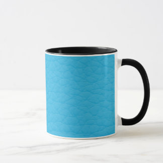 Gorgeous Bright Blue Retro Grunge Custom Leather Mug