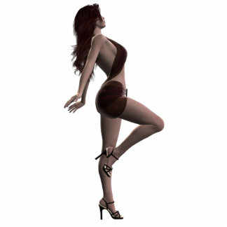 Gorgeous Brunette Pinup photosculpture Standing Photo Sculpture