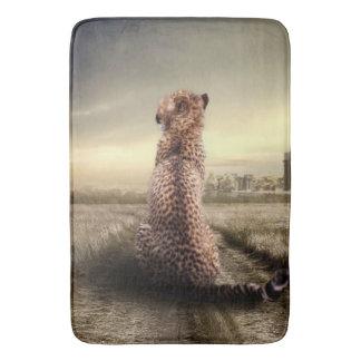 Gorgeous cheetah bath mat