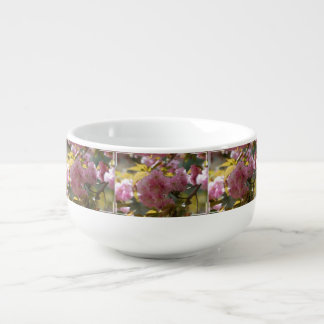Gorgeous Cherry Blossoms Soup Bowl With Handle