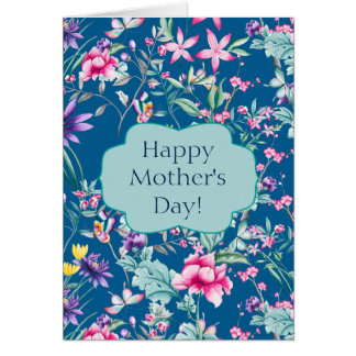 Gorgeous Chinoiserie Floral Pattern | Mother's Day Card