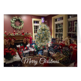 Gorgeous Christmas Tree and Decorations Card