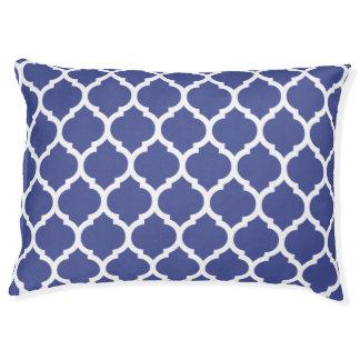 Gorgeous Cobalt Blue Moroccan Quatrefoil Pattern