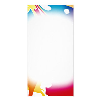 Gorgeous Colorful Modern art valentine gift Customized Photo Card