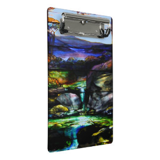 Gorgeous Colors Stain Glass Nature Mini Clipboard