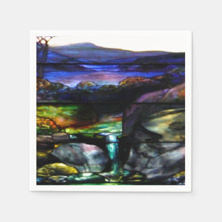 Gorgeous Colors Stain Glass Nature Paper Napkin
