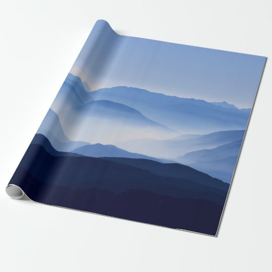 Gorgeous Colourful Misty Mountain Morning Wrapping Paper