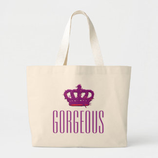 Gorgeous Crown Jumbo Tote Canvas Bags