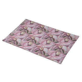 GORGEOUS EXOTIC AND TROPICAL ORCHID FLORAL PLACEMAT