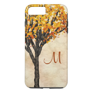 Gorgeous Fall Autumn Tree Monogram Initial iPhone 8 Plus/7 Plus Case