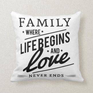 Gorgeous family cushion