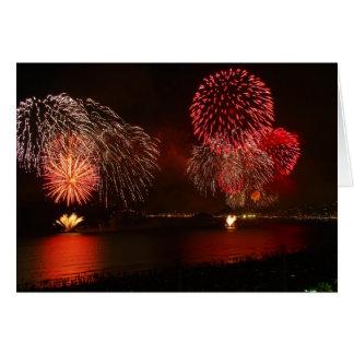 gorgeous fireworks greeting card