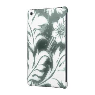 gorgeous floral design silver iPad mini cases