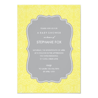 Gorgeous Floral Party Invitation (Yellow)