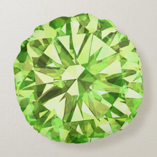 Gorgeous Gem Peridot Round Cushion