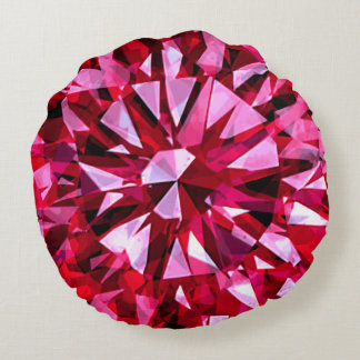 Gorgeous Gem Red Round Cushion