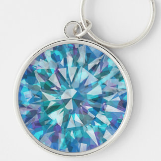 Gorgeous Gem with Blues and Purples Keychains